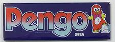 Pengo Arcade Game Marquee Fridge Magnet