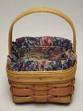Longaberger 1991 Mother's Day Touch of Pink Potpourri Basket w/ Liner Come See!