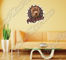 "Pit Bull Brown Dog Fighting Fight Pet Wall Sticker Room Interior Decor 25""X22"""