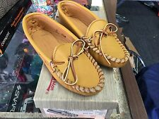 QUODDY WOMEN'S SOFTSOLE MOCCASINS - VINTAGE - NEW IN BOX - BUCK TAN- SIZE 5