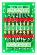 16 Channel Common Anode LED Indicator Gate Module, 12Vdc Version.