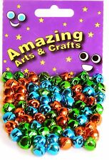 72 Jingle Bells 10mm Red, Green and Blue by Amazing Arts and Crafts Ltd