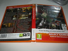 PC DVD-ROM SHADOWS OF THE VATICAN- ACT 1, GREED