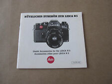 Vintage Accessories for the Leica R3 Booklet (Printed in West Germany)