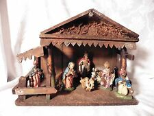 VINTAGE HAND PAINTED NATIVITY SET MADE IN ITALY MUSICAL