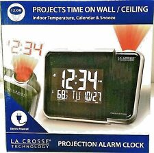 La Crosse Technology Projection Alarm Clock w/Indoor Temperature Calendar Snooze