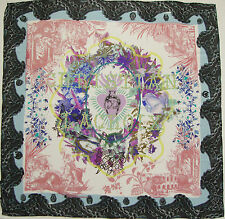 NWT Authentic CHRISTIAN LACROIX Multi-Colored 100% Silk Chiffon Scarf Foulard
