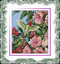 Ruby Throated Hummingbird~Delica Bead Peyote Pattern