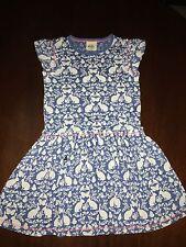 NWT 6/7 Mini Boden Blue Secret Garden Cotton Blend Dress