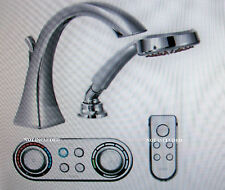 Moen Voss ioDigital High Arc Roman Tub Faucet w/Handshower Chrome T9694