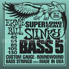 ERNIE BALL 2.850 Super Long Scale Slinky Roundwound 5 STRING BASS guitar Strings