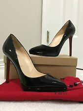 Christian Louboutin Pigalle Plato 120 - Black - Patent Leather - Size 37.5