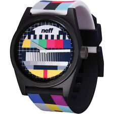 Neff Men's Unisex Daily Wild TV Screen Watch Black Timepiece Streetwear Casual