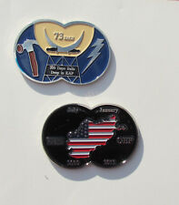 73 Each 200 Days Balls Deep In KAF OEF Numbered Challenge Coin