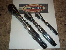 New3 PC SET Craftsman Thin Profile 75-Tooth Full Polish Quick Release Ratchet