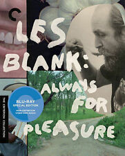 Les Blank: Always for Pleasure (Blu-ray Disc 2014, 3-Disc Set, Criterion) SEALED