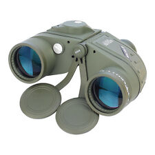 10X50 Military Marine Bak4 Prism Binoculars With Range Finder Compass Waterproof