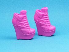 Barbie Dark Pink Wedge Heel Top Sneakers Tennis Shoes Fashionistas