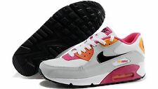 NIKE AIR MAX 90 2007 YOUTH(GS) Size 5Y WHITE/ORANGE/PINK/BLACK 345017-113