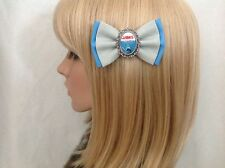 Jaws hair bow clip rockabilly pin up girl retro vintage scary movie shark