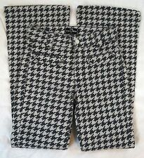 7 For All Mankind Boot Cut Gray Houndstooth Womens Jeans Size 24 (GW#2677)