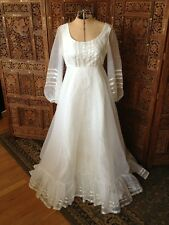 Vintage 70's Lorrie Deb Dress/ Costume/Wedding/ Reniassance. XS-S Empire Waist