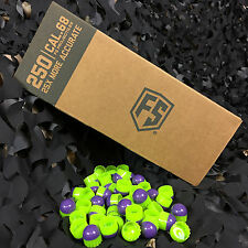 NEW Tiberius Arms First Strike Paintball Rounds - 250 Count - Purple/Green