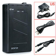 new DC 12V 2In1 Portable Rechargeable 8000Mah Li-ion Battery Pack US Adapter