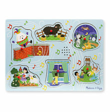 Melissa & Doug Sing-Along Nursery Rhymes Sound Puzzle - Blue #737 #0737 NEW
