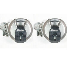 Lock Set by Master M40KA (Lot of 2) KEYED ALIKE Round Sealed Shrouded Carbide