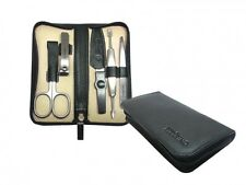 PFEILRING GERMAN 5 PIECES INOX MANICURE SET in NAPPA LEATHER CASE SOLINGEN