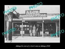 OLD LARGE HISTORIC PHOTO OF ALDINGA SA, VIEW OF LOW'S GENERAL STORE c1930