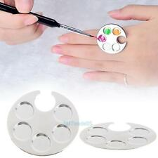 Mini Finger Nail Art Color Mixing Painting Palette For Manicure Ring Nail Tools