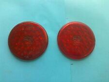 VW Split Beetle Käfer Brezel pair of rear tail light lenses glass Hella NOS