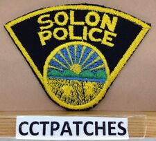 VINTAGE SOLON, OHIO POLICE SHOULDER PATCH OH