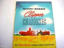 Massey Harris Clipper Combines Brochure 1940's
