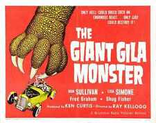 Giant Gila Monster 02 Metal Sign A4 12x8 Aluminium