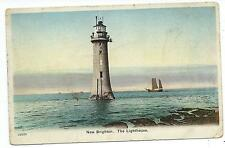 CHESHIRE - NEW BRIGHTON, THE LIGHTHOUSE & SAILING SHIP Postcard