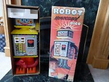 PEPO Robot Monocanal Rico Spain + Box Large 2 Ft Tin Litho Plastic Not Working