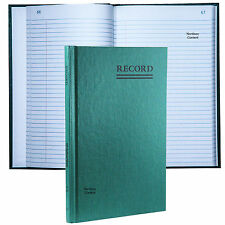 """National Brand 56-521 Account Book, Record Ruling, 9-5/8 x 6-1/4"""", 200 Pages"""