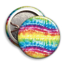 Hippy Tie Die Wave Print - Button Badge - 25mm 1 inch