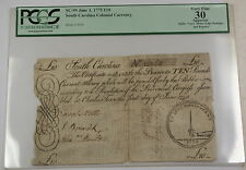 1775 10 Pounds South Carolina Colonial Currency Note Sc-99 Pcgs Vf-30 Apparent