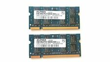 Elpida 4GB (2X2GB) DDR2 Laptop Memory, PC2-6400 441591-888, JAPAN