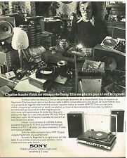 Publicité Advertising 1974 La Chaine Hi-Fi Sony