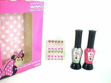 DISNEY minnie mouse due nail art pen & stickers set great gift rrp£10
