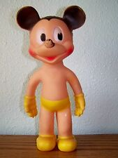 VINTAGE DISNEY 11 IN. RUBBER SQUEAK TOY MICKEY MOUSE 1940-50s Sun Rubber Co #92