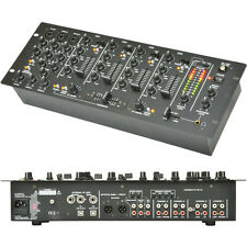 14 input 4 Channel Pro Mobile DJ Mixer–USB Recording Crossfade Karaoke PA 4U 19""