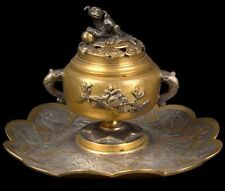 China 20. Jh. Tintenfass - A Chinese Gilt Metal Inkwell - Chinois Cinese Chino