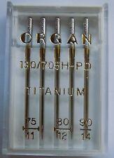 Organ Genuine Titanium Needles Size 75-90 Pk of 5    130/705H PD - BLB569