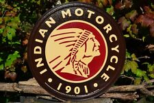 Indian Motorcycle Company Tin Metal Sign - Chief Logo - Scout - Since 1901